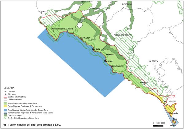 map unesco heritage list cinque terre