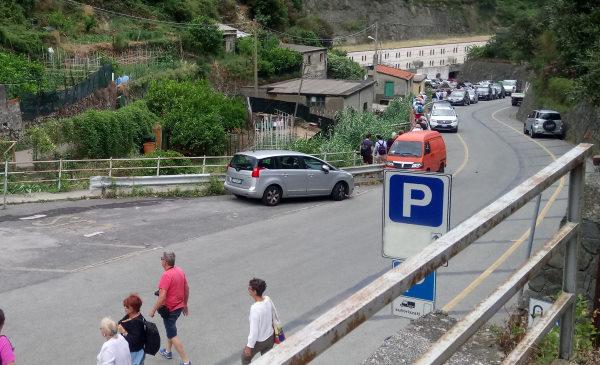 arrival car manarola