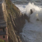 sea storm in manarola cinque terre